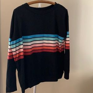 Multi colored striped sweatshirt
